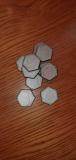 Plastik Hexbasen 30mm mit Rand (10er Pack)
